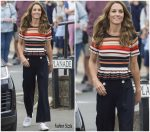 Catherine, Duchess of Cambridge  In Sandro & L.K.Bennett   @  Launch Of The Inaugural King's Cup Regatta