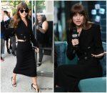 Dakota Johnson In  Alessandra  Rich @ BUILD Series in New York