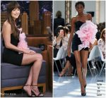 Dakota Johnson  In Alexandre Vauthier Couture  @ Tonight Show Starring Jimmy Fallon