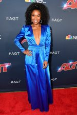 Gabrielle Union  In  New York & Company Jumpsuit @  'America's Got Talent'