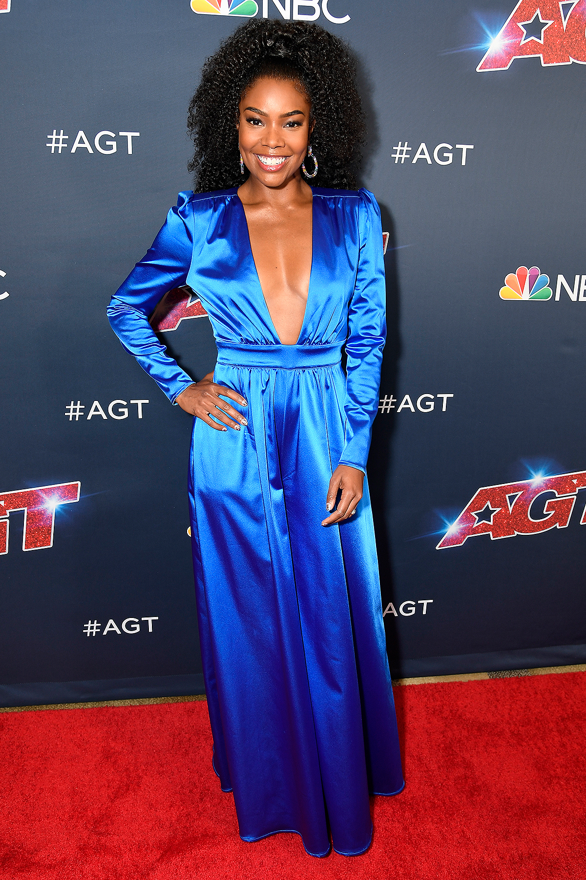 gabrielle-union-in-new-york-&-company-jumpsuit-@-'america's-got-talent'