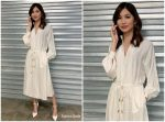 Gemma Chan  In Tory Burch     To Promote 'I Am Hannah'  @ Build Series In London
