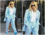 Hailey  Baldwin Bieber  In  Jacquemus Suit Out In Los Angeles