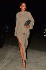 Rihanna In Nanushka Mahali  @ Dinner With Boyfriend Hassan Jameel