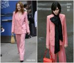 Julianne Moore  In Givenchy Suit   @  Good Morning America