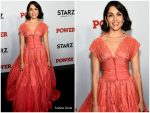 Lela Loren  In  Zac Posen @ 'Power' New York Premiere