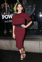 "Lela Loren In Red Valentino @ ""Power"" TV Show Saks Fifth Avenue Window Unveiling, New York"