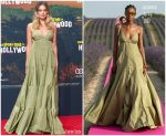 Margot Robbie In  Jacquemus    @ The Berlin Premiere Of 'Once Upon a Time in Hollywood'