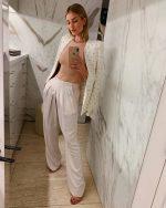 Rosie Huntington-Whiteley  In Chloe Suit – Instagram