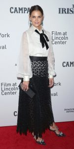 Katie Holmes  In Marc Jacobs @'The Irishman' New York Film Festival Premiere