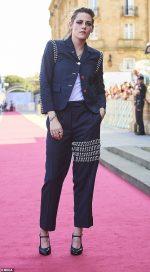 Kristen Stewart In  Thom Browne @ 'Seberg' San Sebastian Film Festival Premiere