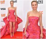 Brie Larson In Giambattista Valli Haute Couture @ 'Just Mercy' Toronto Film Festival Premiere