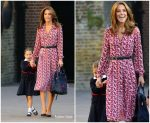 Catherine, Duchess Of Cambridge  In  Michael Kors @ Princess Charlotte's First Day At School
