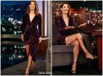Cobie Smulders In @  Prabal Gurung On Jimmy Kimmel Live