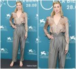 Elizabeth Debicki In Fendi  @ 'The Burnt Orange Heresy' Venice Film Festival Photocall