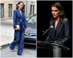 Katie Holmes  In Gabriela Hearst @  Global Citizen Press Conference 2019