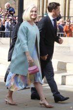 Katy Perry In Sies Marjan Dress  @ Wedding of Ellie Goulding and Caspar Jopling in London