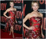 Renée Zellweger In  Oscar de La Renta  @ Autumnal Reds For The 'Judy' LA Premiere