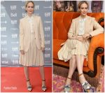 Sarah Paulson In  Burberry @ 'Abominable' Toronto Film Festival Press Conference
