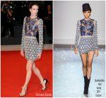 Stacy Martin In Giambattista Valli Haute Couture @ 'Gloria Mundi' Venice Film Festival Premiere