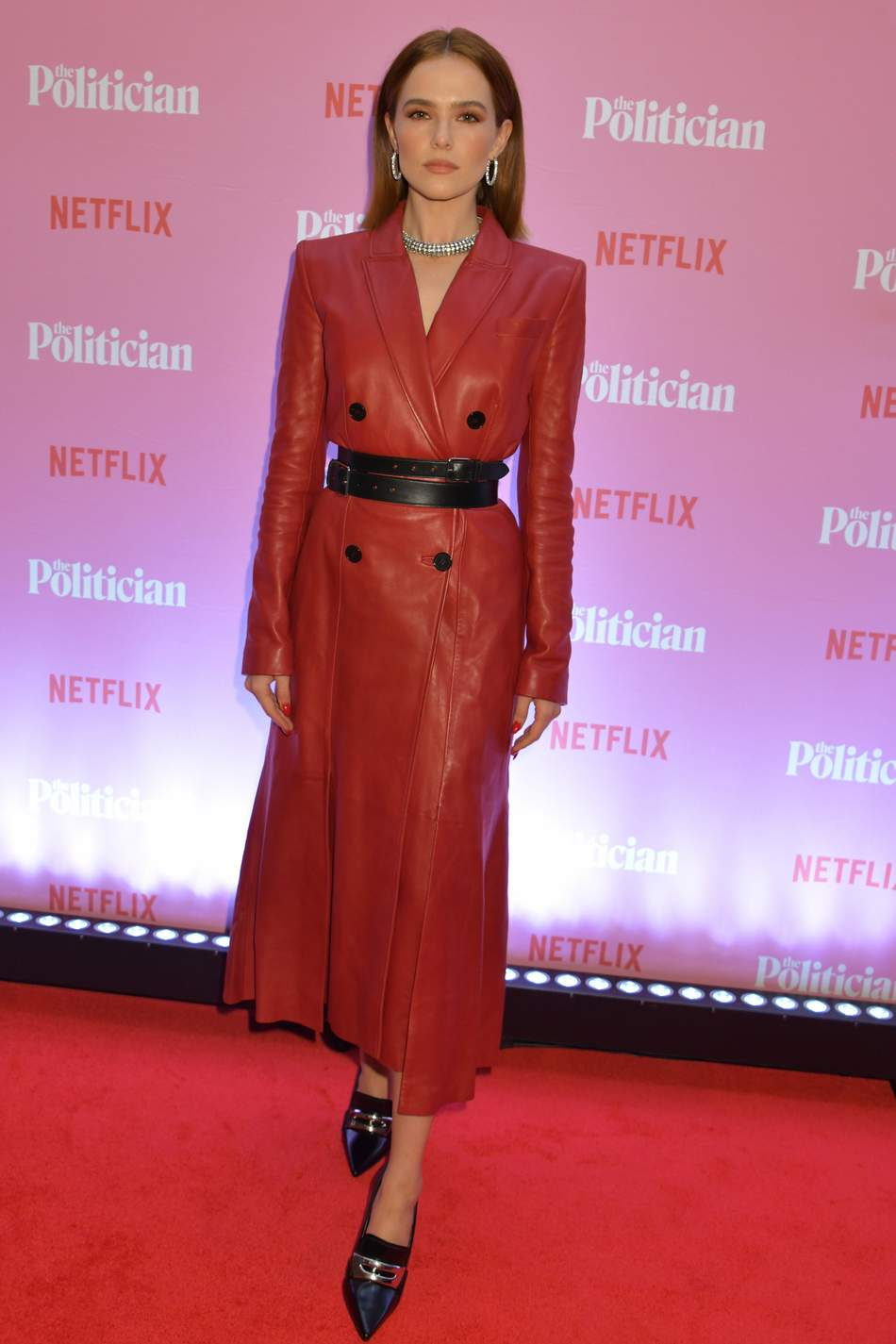 zoey-deutch-in-alexander-mcqueen-@-'the-politician'-netflix-london-screening