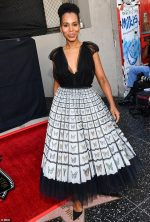 Kerry Washington In  Mary Katrantzou @ The Hollywood Walk Of Fame Tribute  For Tyler Perry