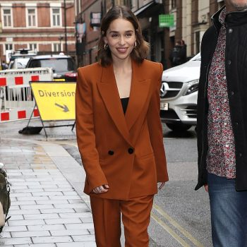 emilia-clarke-in-amber-petar-petrov-suit-last-christmas-promo-in-london