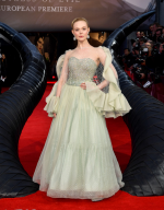 Elle Fanning In  Armani Prive  @ The 'Maleficent: Mistress of Evil' London Premiere