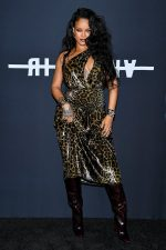 Rihanna  In Saint Laurent @  Her Visual Autobiography Launch In New York