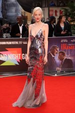 Andrea Riseborough In Alberta Ferretti @ 2019 BFI London Film Festival Closing Gala