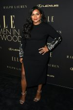 Mindy Kaling In Oscar De La Renta @  ELLE's 2019 Women In Hollywood Event