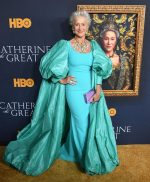 Helen Mirren In Badgley Mischka  @  The 'Catherine The Great' LA Premiere