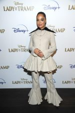 Tessa Thompson In Loewe For The 'Lady And A Tramp' New York Screening