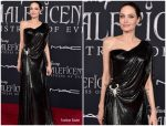 Angelina Jolie  In  Atelier Versace  @ The 'Maleficent: Mistress Of Evil' World Premiere