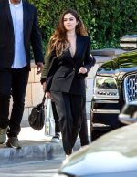 Selena  Gomez In Givenchy  Suit  @  Interscope Records In LA