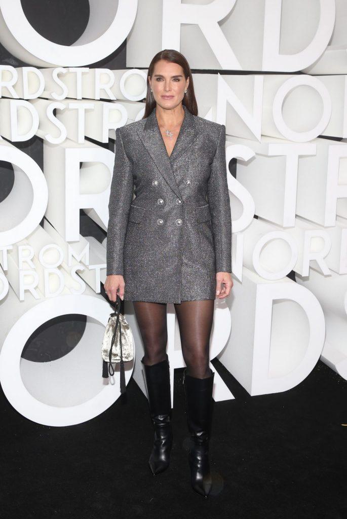 Brooke Shields In Blazer Dress Nordstrom Store Opening