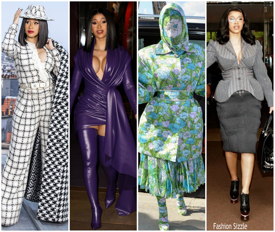 Cardi -B -Sizzles – at- Paris- Fashion- Week -2019-