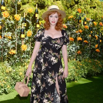 christina-hendricks-in-reformation-@-2019-veuve-clicquot-polo-classic-in-la