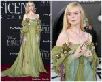 Elle Fanning  In Gucci  @ The 'Maleficent: Mistress Of Evil' World Premiere