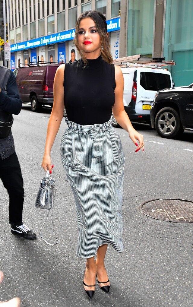 selena-gomez-in-miu-miu-skirt–while-on-promo-tour-in-new-york