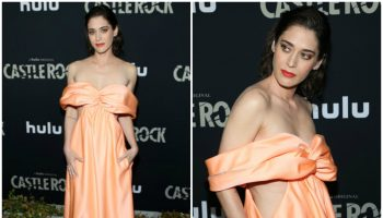 lizzy-caplan-in-area-gown-castle-rock-season-2-premiere
