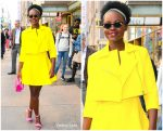 Lupita Nyong'o  In Toccin @  'Live with Kelly and Ryan.'
