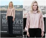 Michelle Pfeiffer In  Giorgio Armani @ The 'Maleficent: Mistress Of Evil' Rome Photocall