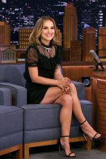 Natalie Portman  In  Miu Miu @  Tonight Show Starring Jimmy Fallon