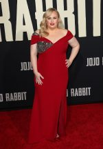 Rebel Wilson In  Badgley Mischka @  Jojo Rabbit Premiere in Los Angeles