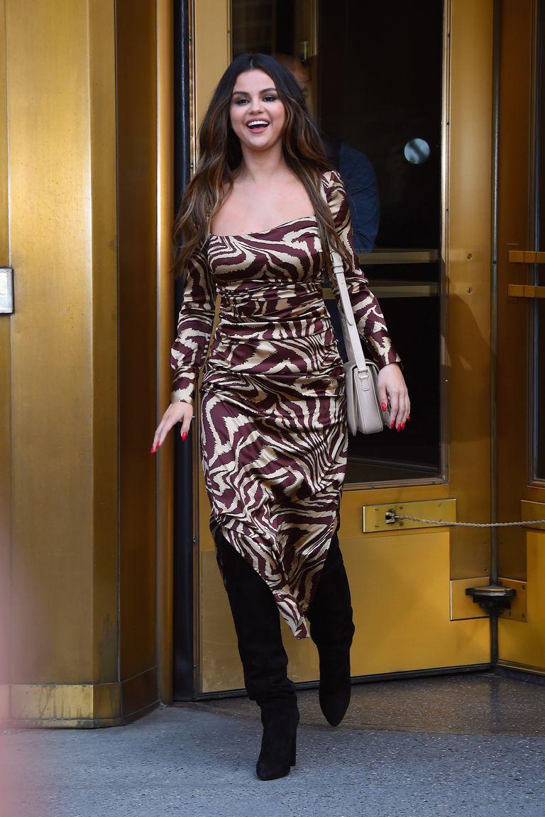 selena-gomez-in-ganni-dress-while-on-promo-tour-in-new-york