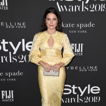 sophia-bush-in-yellow-lace-dress-2019-instyle-awards