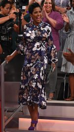 Tamron Hall In  Peter Pilotto Dress @ Tamron Hall Show