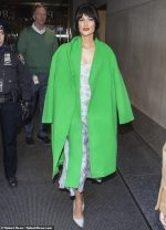 Kacey Musgraves In Neon Dorothee Schumacher Coat  @  Outside 'The Today Show'