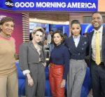 "Ella Balinska  In Michael Kors  @ ""Good Morning America"""